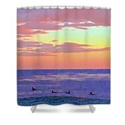 Between Sets 2 Shower Curtain