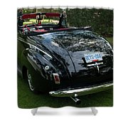 Black And Chrome 13130 Shower Curtain