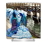 Blue Angel 2015 Carnevale Di Venezia Italia Shower Curtain