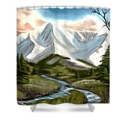 Break In The Storm Dreamy Mirage Shower Curtain