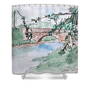 Bridge At Bellevue Gate Lodge Co. Wexford Shower Curtain
