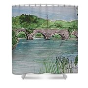 Bridge  In Bunclody, Ireland Shower Curtain