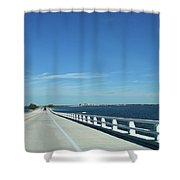 Bridge Over The Sea Shower Curtain