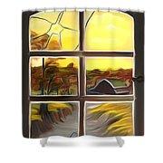 Broken Window Dreamy Mirage Shower Curtain
