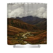 Brooks Range, Dalton Highway And The Trans Alaska Pipeline  Shower Curtain