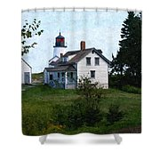 Burnt Island Maine Shower Curtain