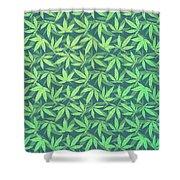 Cannabis   Hemp  420   Marijuana  Pattern Shower Curtain