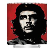 - Che - Shower Curtain by Luis Ludzska