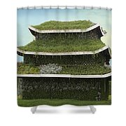 Chinese House Shower Curtain