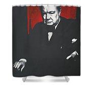 - Churchill - Shower Curtain by Luis Ludzska