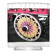 Circus Wagon Wheel Shower Curtain