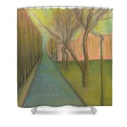 City, Street, 12 May 2015 Shower Curtain