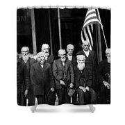 Civil War Veterans October 8 1923 Black White Shower Curtain