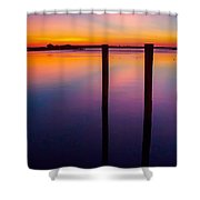Color Before Dark Shower Curtain
