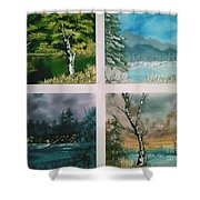 Colors Of Landscape Shower Curtain