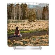 Contemplative Meditation Shower Curtain