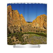 Crooked River At Smith Rock State Park Oregon  Shower Curtain