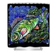Dear Lord  Please Let Me Catch A Fish Shower Curtain