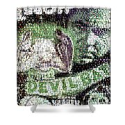 Devil Bat Movie Poster Horror Mosaic Shower Curtain