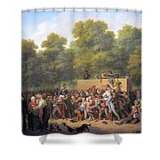 Distribution Of Wine And Food Shower Curtain