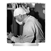Doctor Nurse In Operating Room May 1964 Black Shower Curtain