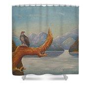 Eagle Bird Of Freedom Shower Curtain