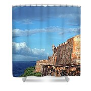 El Morro Fortress Rainbow Shower Curtain