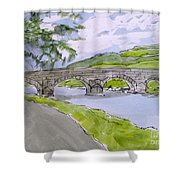 Ferry House Bridge Shower Curtain