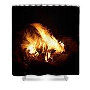 Fire Shower Curtain