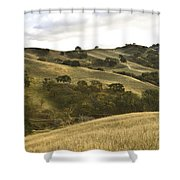 First Hill In Fall Shower Curtain