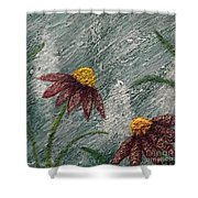 Flowers In The Breeze Shower Curtain