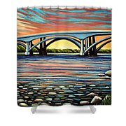 Folsom Bridge Shower Curtain