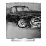 Ford Pick Up Shower Curtain