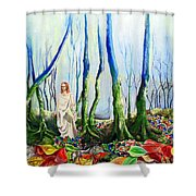 Forest Of Divine Light Shower Curtain