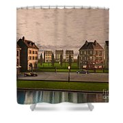 French City Landscrape Shower Curtain