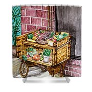 Fruit And Vegetable Stand In Nice, France Shower Curtain
