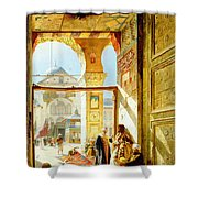 Gate Of The Great Mosque. Damascus Shower Curtain