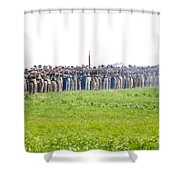 Gettysburg Confederate Infantry 0157c Shower Curtain