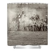 Gettysburg Confederate Infantry 7503s Shower Curtain