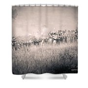 Gettysburg Confederate Infantry 9112s Shower Curtain