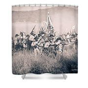 Gettysburg Confederate Infantry 9214s Shower Curtain