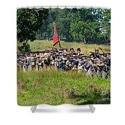 Gettysburg Confederate Infantry 9270c Shower Curtain