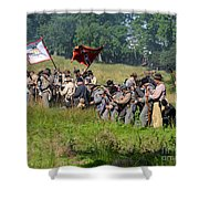 Gettysburg Confederate Infantry 9281c Shower Curtain