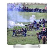 Gettysburg Union Artillery And Infantry 7439c Shower Curtain