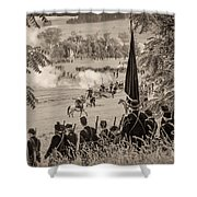 Gettysburg Union Artillery And Infantry 7457s Shower Curtain