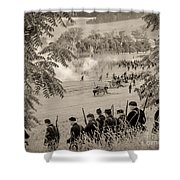 Gettysburg Union Artillery And Infantry 7465s Shower Curtain