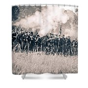 Gettysburg Union Infantry 9360s Shower Curtain