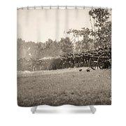 Gettysburg Union Infantry 9968s Shower Curtain