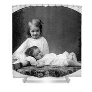 Girls Posing June 30 1905 Black White 1900s Shower Curtain