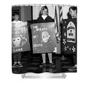Grade School Children Kids Posters Circa 1960 Shower Curtain